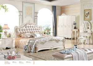Europe Style Leather Bedroom Furniture with Dresser (6006) pictures & photos