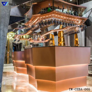 Luxury Modern Fancy Design U Shape White Commercial Marble Solid Surface Restaurant Bar Counter pictures & photos