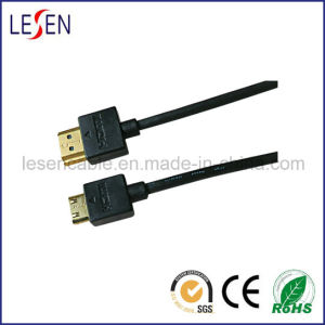 Ultra-Slim HDMI Cable with Ethernet, Am to Mini Male Plug pictures & photos