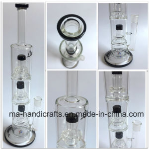 18 Inch Boro Glass Smoking Pipes/Water Pipes with Triple Percs pictures & photos