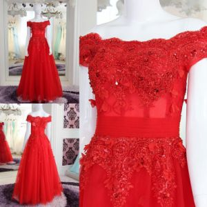New Fashion Hot Sale Floor Length Sweetheart Organza Beaded Prom Dress with Detachable Train (WD86) pictures & photos