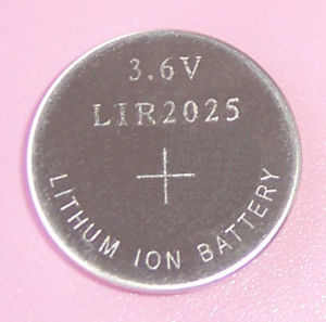 Button Cell Lir2025 3.6V Lithium Ionbattery with Good Price (LIR2025) pictures & photos