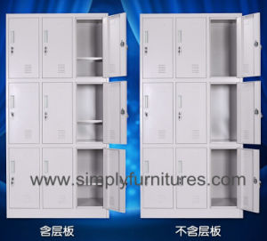 Dorm Metal Wardrobe Cabinet with 9 Doors pictures & photos