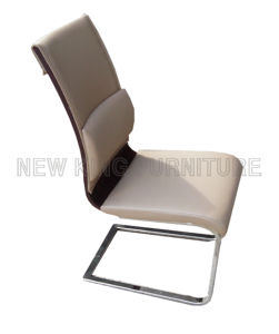 Modern Luxury Comfortable Leather Bent Wood Cover Dining Chair (NK-DC045) pictures & photos