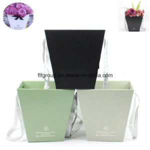 Elegant Customized Blue Cardboard Box Paper Flower Box pictures & photos