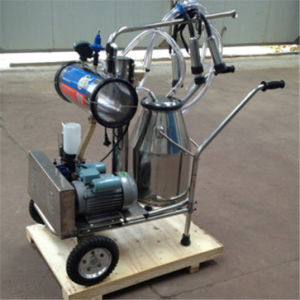 Vacuum Pump Single Bucket Cow and Goat Milking Machine pictures & photos