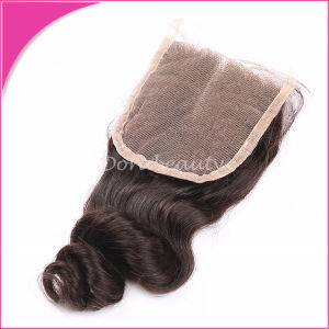 100% Remy Hair 3.5*4 Brazilian Loose Wave Lace Closure pictures & photos
