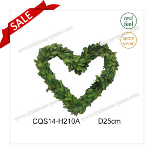 D25cm Fancy Fresh Leaves Boxwood Wreath Decoration Wall Art pictures & photos