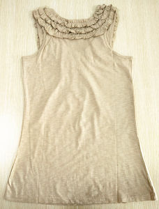 Fashion Apparel Women Cotton Breathable Vest Tank Top pictures & photos