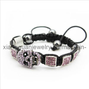 Xg-Yk22 Fashion Jewelry Square Crystal Paved Beads Macrame Bracelete