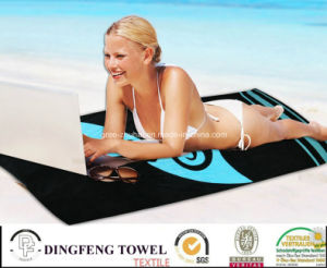 100% Cotton Velour Reactive Printed Beach Towel Df-3596 pictures & photos