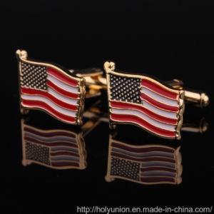 Flag Cuff Links Uniform Shirts Metal Cufflinks pictures & photos