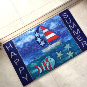 Rubber Crumb Outdoor Indoor Dye Sublimation Heat Transfer Digital Printed Custom Floor Door Mats pictures & photos