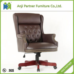 Dark Color 360 Degree Swivel Black Leather Boss Executive Chair (Alger) pictures & photos