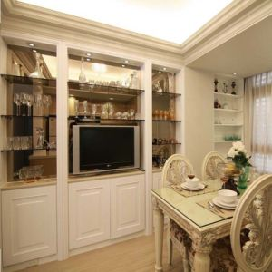 Built-in Hollow out Multi-Function TV Cabinet pictures & photos