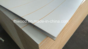 3mm Paper Overlaid Decorative Plywood Wtih Grooves