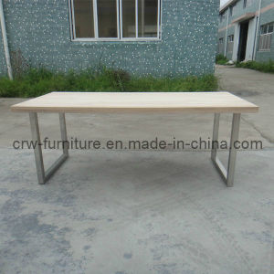 Oak Modern White Home Furniture Dining Table (MFF-107) pictures & photos