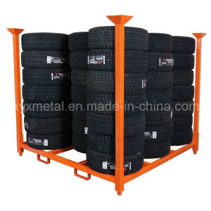 Warehouse Metal Storage Stackable Tyre Rack pictures & photos