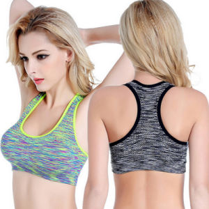 Wholesale Custom Dyeing Shockproof Supportive Elastic Band Lifestyle Bodybuilding Yoga Bra pictures & photos