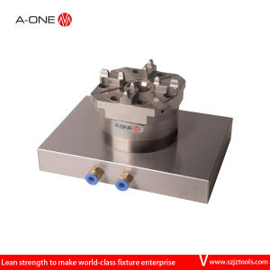 CNC Single Manual Chuck Wtih Base Plate pictures & photos