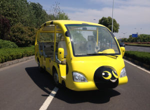 Best Price 23 Seats Electric Tourist Shuttle Bus for Sale pictures & photos