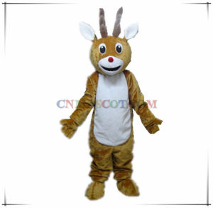 Super Soft Short Hair Velvet Deer Mascot Costume Wholesale Price