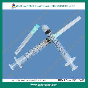 3cc 3-Parts Disposable Syringe with/Without Attached Needle pictures & photos
