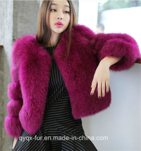 2015 Multicolor Real Fox Fur Coat for Winter Women pictures & photos