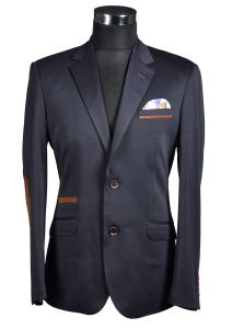 Knitted Fabric Leisure Fashion Blazer with Hankie