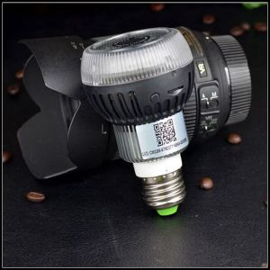 Real Bulb Camera Withinvisible Light Motion Detection Night Vision Lamp WiFi pictures & photos