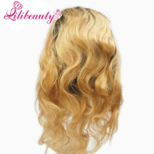 360 Lace Frontal Ombre #27 Blonde Malaysia Human Hair Bulk Full Lace Frontals pictures & photos