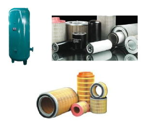 Twin Rotary Screw Air Compressor Filter Parts pictures & photos
