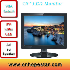 Desktop Computer 17 Inch LCD Monitor with VGA HDMI AV USB pictures & photos