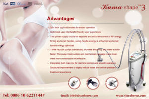 Beijing Sincoheren Vela Shape Multifunction Body Shaping Cellulite Removal Slimming Machine pictures & photos