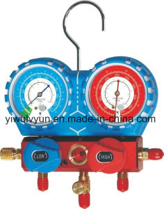 New R22 134 410 Aluminium Manifold Gauge Set pictures & photos