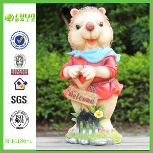 Garden Cute Hedgehog Animal Resin Figures for Decoration (NF14186-1)