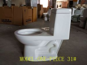 Hot Wc Ceramic One-Piece Siphonic Toilet with Ce pictures & photos