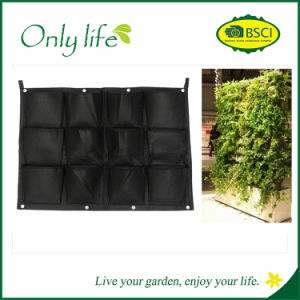 Onlylife BSCI Reusable Customized Vertical Planter Hanging Grow Bag pictures & photos