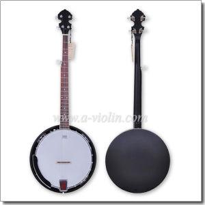 Matt Black Mahogany Plywood Rim 5 String Chinese Banjo (ABO245G-MB) pictures & photos