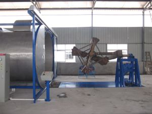 Two Arms Shuttle Rotomoulding Machine