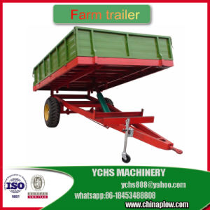 New European Style Trailer Farm Machinery Tractor Mounted Dumping Trailer pictures & photos