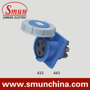 63A 3pin 220V IP67 Panel Socket, 125A3pin 20V Angle Panel Socket pictures & photos