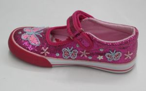 Beautiful Beads Canvas Shoes by Hand-Make for Girl (SNK-02130) pictures & photos