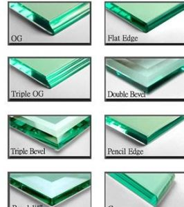 China Clear Tempered Glass Round Dege Amp Pencil Edge