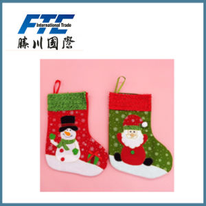 Santa Snowman Wholesale Custom Christmas Stocking pictures & photos
