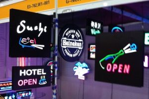 LED Neon Sign/LED Lighting Box with Neon Effection/LED Neon Board