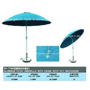 Outdoor 16 Panels Aluminum Sun Beach Umbrella (YSBEA0005) pictures & photos