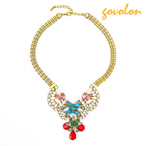 Fashion Jewellery Necklace with Rhinestone and Beads Decorated pictures & photos