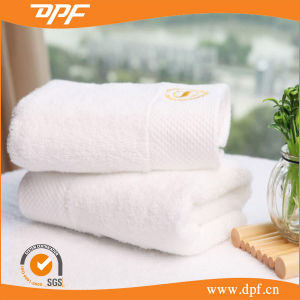 Pure Cotton White Terry Bath Towels for Hotel (DPF060550) pictures & photos