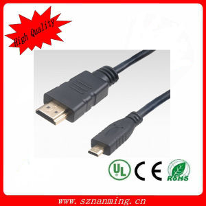 1.5m Micro HDMI Cable Supporting 1080P and 3D pictures & photos
